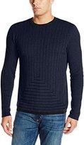 Calvin Klein Men's Geo Drop Needle Crew Neck Sweater