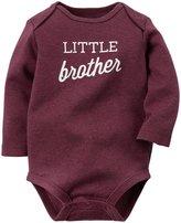 Carter's Slogan Bodysuit (Baby) - Little Brother-9 Months