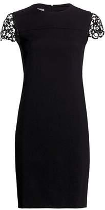 Akris Punto Chain Shoulder Shift Dress