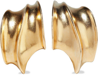 Ben-Amun 24-karat Gold-plated Clip Earrings