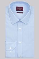 Moss Esq. Regular Fit Sky Single Cuff Hairline Stripe Shirt