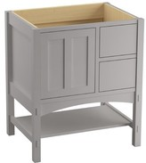 """Kohler Marabou 30"""" Vanity Base Only with 1 Door and 2 Drawers on Right Finish: Mohair Grey"""