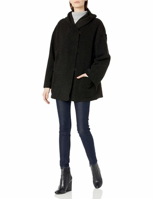 Max Studio Women's Hooded 3 Clasp Outerwear Coat