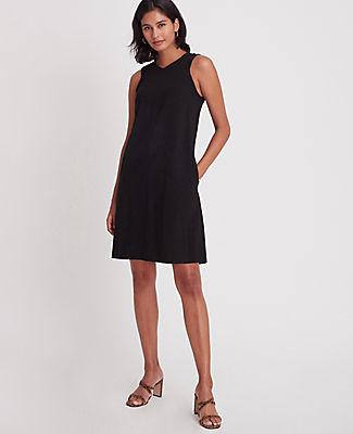 Ann Taylor Ponte V-Neck Pocket Dress