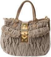 Miu Miu Matelassé cloth handbag