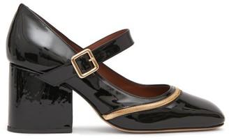 Osman Nina Patent-leather Mary Jane Pumps - Womens - Black Gold