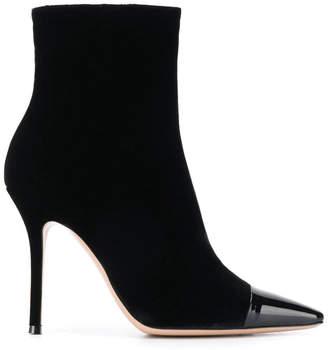 Gianvito Rossi toe-cap velvet ankle booties