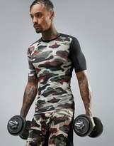 Reebok Training Compression T-Shirt In Camo BR9566