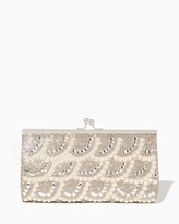 Charming charlie Kina Scalloped Pearl Clutch