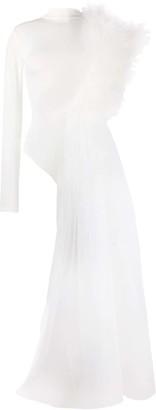 Alchemy One-Shoulder Ruffled Bodysuit