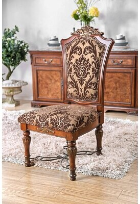 Astoria Grand Encline Upholstered Queen Anne Back Side Chair in Light Brown