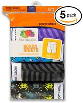 Fruit of the Loom 5Pack Boys Stripe & Solid Cotton Boxer Briefs Underwear S