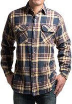 Dakota Grizzly Canyon Guide Brawny Flannel Shirt - Long Sleeve (For Tall Men)