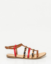 Le Château Leather-Like Gladiator Sandal