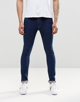 Asos Super Skinny Jeans In 12.5oz In True Blue