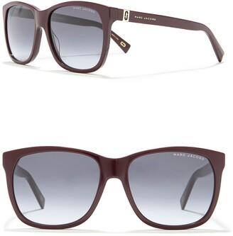 Marc Jacobs 57mm Rectangle Sunglasses