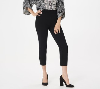 Belle By Kim Gravel Tummy-Smoothing Ponte Knit Pull-On Pants