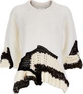 3.1 Phillip Lim White Knitted Crochet Jumper