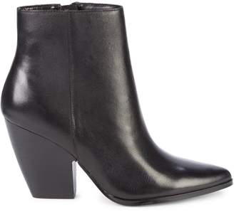 Charles David Niche Stack-Heel Leather Booties
