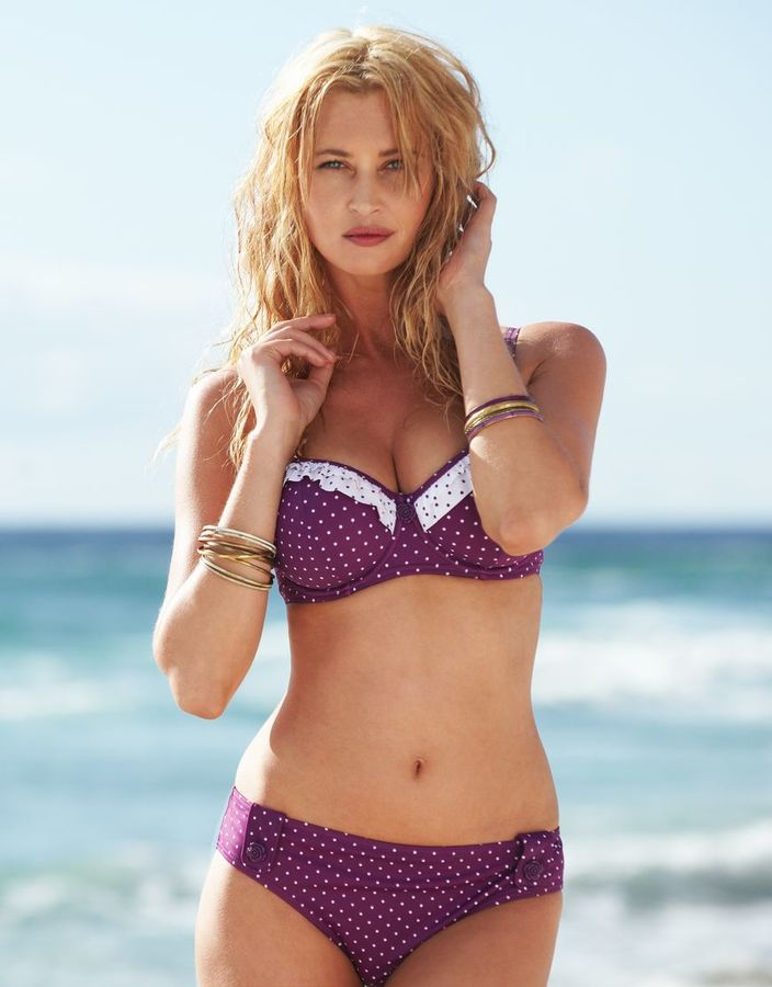 Figleaves Midnight Grace by figleaves.com Rose Underwired Padded Sweetheart Bikini Top