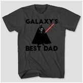 Star Wars Men's Big & Tall Darth Vader Galaxy's Best Dad Graphic T-Shirt - Charcoal Heather