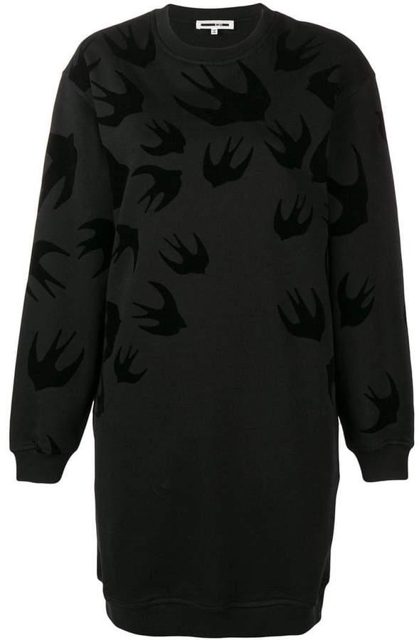 McQ Swallow print sweatshirt dress