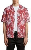 AllSaints Koloa Slim Fit Short Sleeve Sport Shirt
