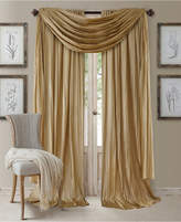 Elrene Athena Rod Pocket 52 X 84 Pair Of Curtain Panels With Scarf Valance