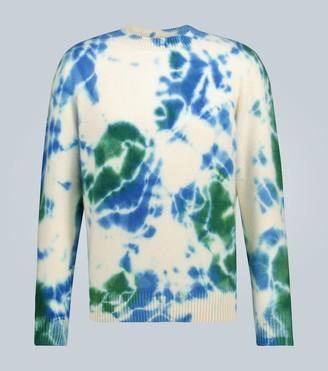 The Elder Statesman Tie-dye cashmere sweater