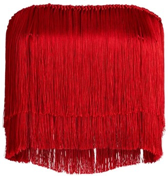 Dolce & Gabbana Strapless Fringe Top