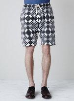 Topman Navy Floral Print Jersey Shorts