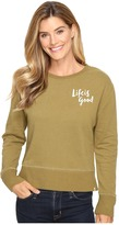 Life is Good Painted Go-To Crew Women's Long Sleeve Pullover