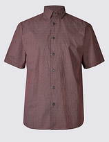 M&s Collection Pure Cotton Printed Shirt