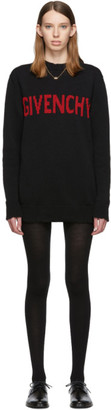 Givenchy Black and Red Logo Crewneck Dress