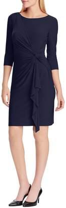 Chaps Slim-Fit Three-Quarter-Sleeve Jersey Dress