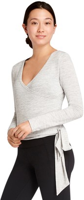 Danskin Womens' Long Sleeve Wrap Top