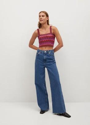 MANGO Multicolour knit top