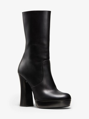 Michael Kors Emmy Calf Leather Platform Boot