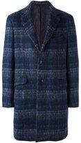 Etro woven check coat