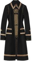 Roberto Cavalli Ribbon-trimmed wool coat