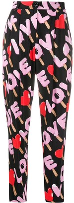 Love Moschino Printed Tailored Trousers
