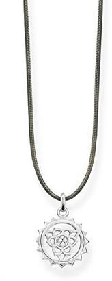 Thomas Sabo Women's 925 Sterling Silver Glam and Soul Choker Throat Chakra Necklace of Length 80 cm LSKE011-401-5-L80v