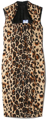 Thierry Mugler Bodyshaping Dress in Natural Leopard