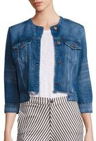 J Brand Catesby Cropped Light Wash Denim Jacket