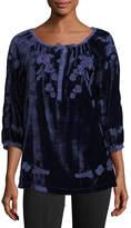 XCVI Embroidered Silk-Blend Velvet Tunic