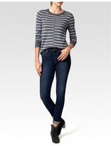 Paige Allie Sweater - Heather Grey Stripe