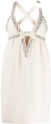 Miu Miu Embellished Baby Doll Dress