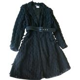 Salvatore Ferragamo Black Cotton Coat