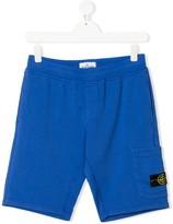 Stone Island Junior TEEN patch-pocket shorts