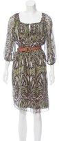 Tibi Silk Abstract Printed Dress
